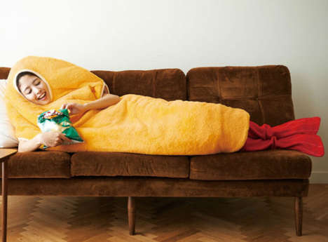 Shrimp Sleeping Bags - This Fried Food-Inspired Sleeping Bag Could Also Double As A Shrimp Costume