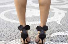 Designer Disney Footwear - The Feminine and Flirty Minnie Mouse Sandals were Designed by Oscar Tiye