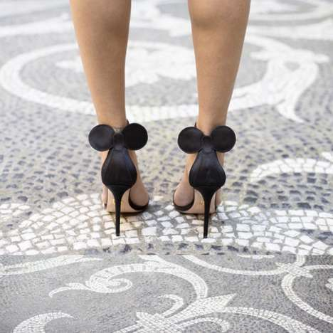 The Feminine and Flirty Minnie Mouse Sandals were Designed by Oscar Tiye