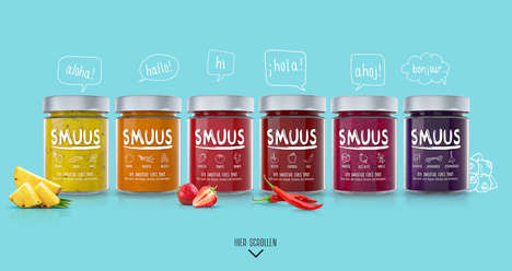 "Smoothie-Inspired Toast Spreads - 'SMUUS' Makes Spicy Fruit & Veggie ""Smoothies"" for Bread"