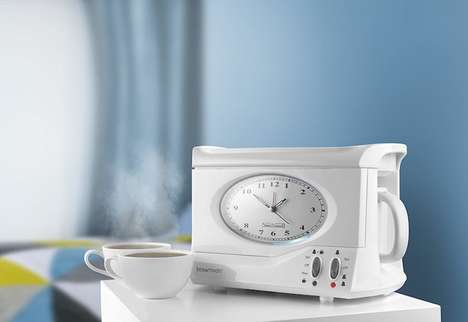 Tea-Brewing Alarm Clocks