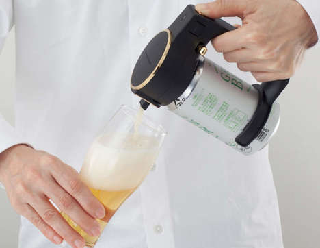 Beer-Frothing Pouring Accessories - The Green House Foamy Head Beer Server Produces the Perfect Pour