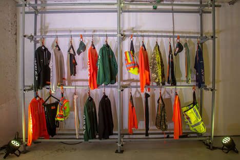 Industrial Streetwear Popups - The Heron Preston KM20 Popup Resembles a Construction Site