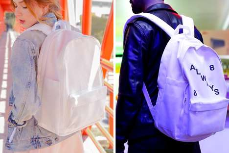 Customizable Canvas Backpacks - The 'MANUABLE' Customizable Backpack Requires Your Finishing Touches