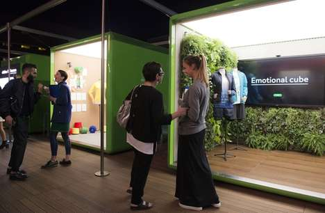 Sensory Retail Pods - The Benetton Pop-Up Cubes Embrace an Immersive Marketing Approach