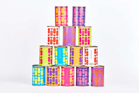 Stylized Canned Fruit Branding