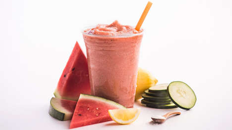 Collagen-Infused Smoothies - The Jamba Juice Poolside Fit and Watermelon Breeze Smoothies are Tasty