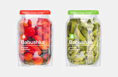 Jar-Shaped Pouch Packages - Wunderbar! Creative Agency Introduced a Fresh Design for Pickled Goods