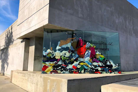 Couture Dry Cleaner Activations - The Vetements 'Dry Cleaning' Popup Displays Dirty Clothing as Art