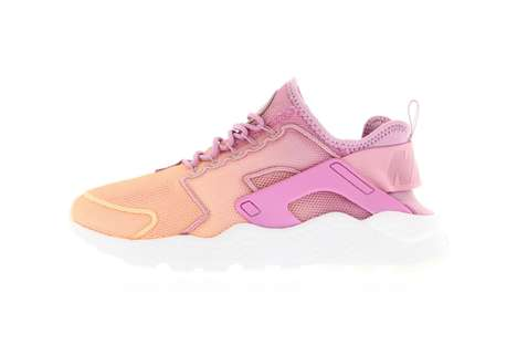 Feminine Sunset-Inspired Sneakers