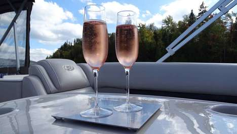 Anti-Spill Wine Glasses - These Wine Glasses are Designed to Never Spill While Boating