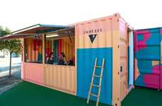 Artistic Shipping Container Cafes - The Shreebs Popup Cafe Features a Graffiti-Clad Store Front