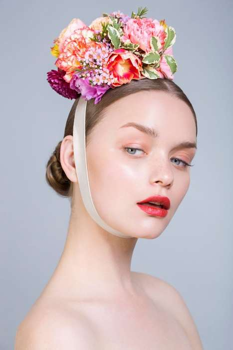 Opulent Floral Headpieces - Beauty Scene's Whimsical Exclusive is Lensed by Daniel Martinez Guillen
