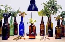 Slim Bottle Topper Gardens - The Urban Leaf World's Smallest Garden Fits on the Top a Bottle