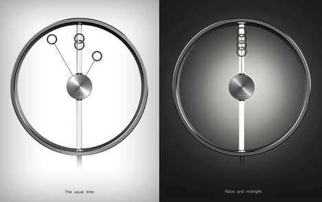 Car Brand Clock Concepts - The Audi Clock Plays with the Brand's Four-Circle Logo