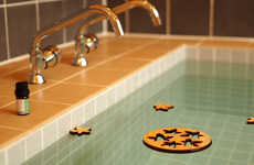 Wood-Scented Bath Accessories - The Bath Aroma Momiji Float in the Water for a Spa-Like Experience