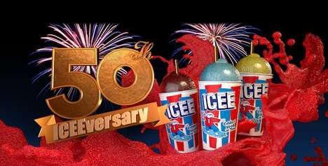 Celebratory Spicy Iced Drinks - The Icee Mango Chili Lime Slushie Drink is for its 50th Anniversary