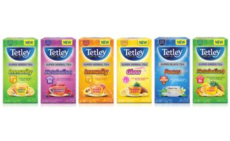Functional Vitamin Teas - Tetley's Super Teas Promote Focus, Enhanced Immunity and More