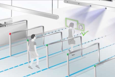 Biometric Subway Gates - This Transportation Entry Gate Concept Aims to Make Pass Cards Obsolete