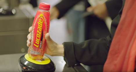 Subway Fare Bottles - Lucozade Energy Drink Bottles Contain Contactless Chips for Free Subway Rides