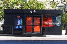 Portable Sunglasses Boutiques - The Grove's Ray Ban Popup Resembles a Revamped Shipping Container