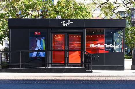 The Grove's Ray Ban Popup Resembles a Revamped Shipping Container