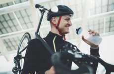 Cyclist Helmet Communicators - The 'Ahead' Helmet Communication Device Fits on Any Helmet