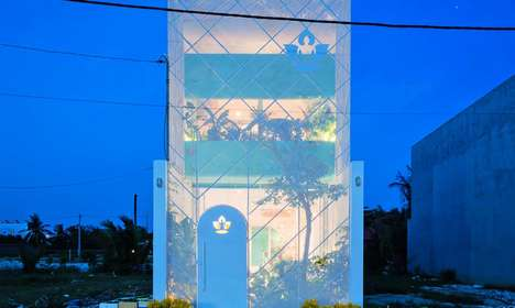 Glowing Transparent Greenhouses - 'Less House' in Ho Chi Minh City is a Luminous Structure