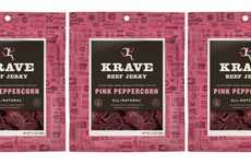 Sweetened Beef Jerky Snacks - The KRAVE Beef Jerky Pink Peppercorn is Free of Artificial Ingredients