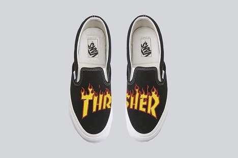 Fiery Skater Sneakers - Vans and Thrasher Joined Together to Create the Ultimate Skate Sneakers