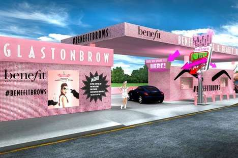 Beauty Service Drive-Thrus - Benefit is Launching 'GlastonBrow' for Brow and Beauty Services