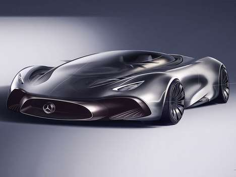 The Mercedes Hybrid Supercar Has a See-through Hood and Glass Roof