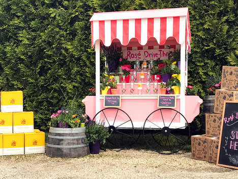 Rosé Drive-Thru Services - You Can Now Get Your Pink Wine Fix Via Drive-Thru in the Hamptons