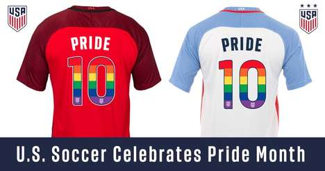 Anti-Homophobia Soccer Jerseys - The US Soccer Teams' New Jerseys Celebrate Pride Month 2017