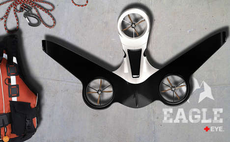 Autonomous Self-Charging Drones - The Eagle Eye Drone Has Solar Panels to Charge During Flight