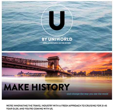 Millennial-Only River Cruises - 'U by Uniworld' is Exclusively for Those 21 to 45 Years of Age