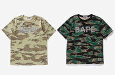 Tiger-Inspired Camouflage Shirts