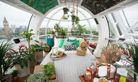 Moving Ferris Wheel Apartments - Travelers Can Now Spend a Night in a Transformed London Eye Capsule