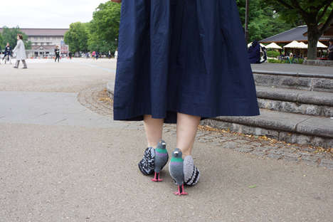 These Realistic Pigeon Shoes are a Quirky Footwear Accessory