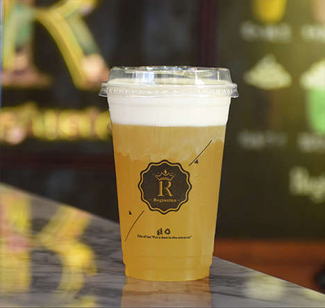 Cheese-Topped Teas - Reguistea Offers Beverages Made With Unlikely Ingredients