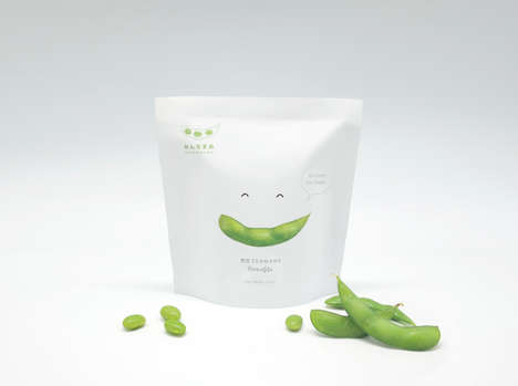 Endearing Edamame Branding - Minnamame's Packaging Stands Out for Its Playful Design