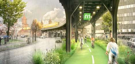 Eco-Focused Urban Bike Paths - The Radbahn Berlin Would Be Berlin's First Covered Bike Path