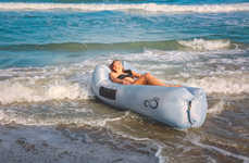Outdoor Inflatable Couches - This Inflatable Lounger Inflates Without an Air Pump