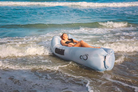 This Inflatable Lounger Inflates Without an Air Pump