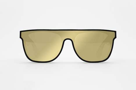 Limited Edition Futuristic Sunglasses - Retrosuperfuture Recently Launched Its Flat Top Gold Eyewear