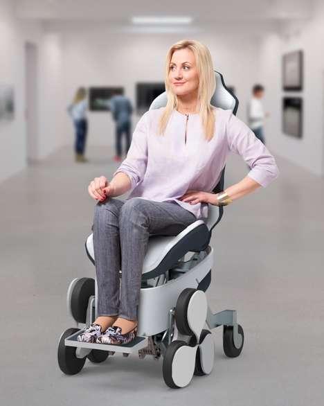 Modernized Stair-Climbing Wheelchairs