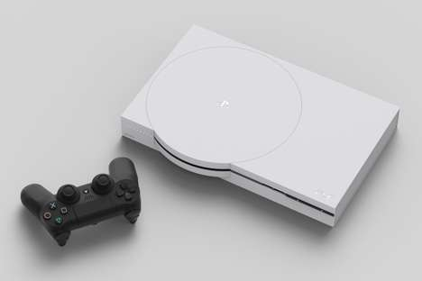 Conceptual Console Designs - This PlayStation Redesign Concept Pays Tribute to Previous Consoles