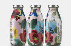 Logo-Free Botanical Juices - The New Firefly Juice Feature Botanical Illustrations on Its Bottle