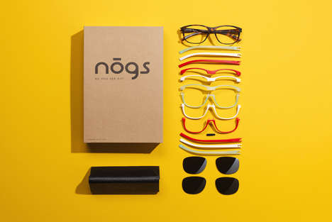Modular Mix-and-Match Sunglasses - Eyewear Designs from 'NOGS' Can Be Customized to Match Outfits