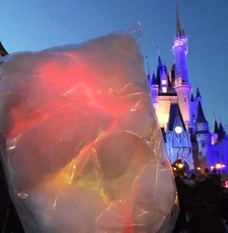Light Up Cotton Candy - Disney Parks Are Now Offering Cotton Candy That Lights Up